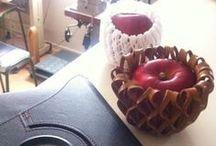 Leather Interior holder / fruit cap, guru-guru for garden