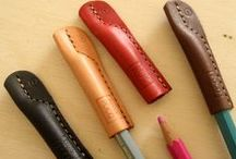 Pen & Pencil / Leather stationary