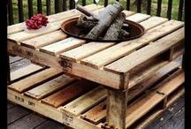 DIY Pallet Art / With all of our pallets we receive for our event supplies, we need a useful way of recycling them.