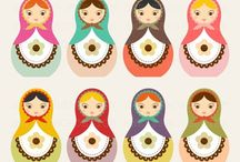 Russian Dolls / I find these little dolls so adorable, and adapt so well into designs for crafts and cookies  / by Zoe Smith