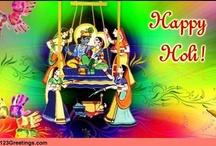 Holi Festival of Colours / It's Holi... The festival of colors. It brings with it utmost joy and warmth, as it marks the beginning of spring. Holi spreads the message of harmony, friendship and goodwill. http://www.123greetings.com/events/holi/