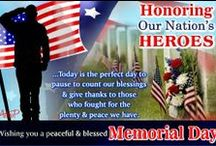 Memorial Day / It's time to get together and remember the fallen heroes, their valor and pay tribute to the living legends. http://www.123greetings.com/events/memorial_day/