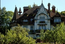 Tudor Style Homes / The Tudor architectural style is the final development of medieval architecture during the Tudor period (1485–1603) and even beyond. / by R. Xavier De La Vega