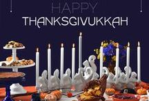 Thanksgivukkah / The convergence of Thanksgiving and the first day of Hanukkah on Nov 28. http://www.123greetings.com/events/hanukkah/thanksgivukkah/ / by 123Greetings .Com