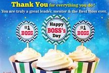 Boss's Day Ecards / Boss's Day is the special day to thank your boss for his/ her inspiration and support at work and wish him/ her a great Boss's Day. http://www.123greetings.com/events/boss_day/ / by 123Greetings Ecards