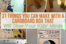 DIY Cardboard Creations: Kids Play Kitchens, theaters,  markets, paper sculpture, techniques