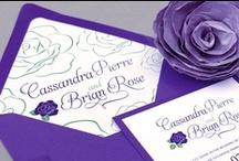 Weddings, pretty purples / by Sara Skinner Scarlet Plan & Design
