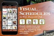 Visual Schedules Apps / Visual schedules support and improve on-task behavior.  The visual is an indicator of what will happen next and relieve the anxiety felt from not understanding procedures or what is expected of them.
