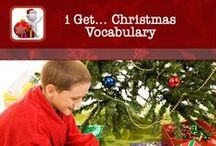 "i Get... Christmas Vocabulary Photo Books / This app comes with photo album books relative to Christmas; ""Christmas Tree"", ""Presents"", ""Decorations"" and ""Santa""    Be creative and make your own photo books of items in your own home to help your child relate to things in their environment."