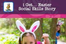 i Get... Easter Social Skills Stories App / i Get... Easter is an app that offers photo books about Easter and an Easter Egg Hunt social story.  Create your own personal books for children that need visual supports to understand what happens during Easter and at an Easter Egg Hunt.  Custom books can be used to work on vocabulary and build sentence structure.  Making books after the event with your personal photos support children with recalling and retelling what happened at the hunt.