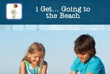 i Get... Going to the Beach - Vocabulary & Social Skills App / Apps created to increase vocabulary, build sentence structure by adding your own text and subtitle, make your own social story or use the app to help to recall/retell what happened while visiting the beach.  Great visual support with real photos for all learners.