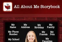 All About Me Storybook / Create your own personal information storybooks by using your own CUSTOM photos, text and audio.  Twelve chapters representing personal categories that allow user to add pages that can be personalized to teach pertinent information.  App is set up for multi users.  http://www.allaboutmestorybook.com/