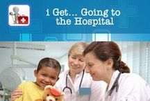 i Get... Going to the Hospital and Accessing Child Life Services / i Get... Going to the Hospital is an application providing a photo story illustrating and describing the sequence of going to the emergency.  Photo books of hospital staff and common hospital objects are also included in this instructional app.