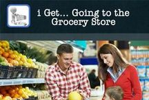 "i Get... Going to the Grocery Store / Keep your child engaged and learning at the grocery store with this app.  Books included in this app; ""Grocery Store"" a social story with photos about going to the grocery store, ""Objects"" a book to work on labeling things in the grocery store and ""My Grocery List"" to create your own picture, text and audio list that your child can check off as you shop.  Personalize the books included or create all your own custom books!"