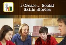 i Create... Social Skills Stories / i Create... Social Skills Stories is an application with the ability to totally customize sequential steps of a storyline for individuals that need help building their social skills. The app is designed to make unlimited personalized social skill story books by importing personal photos, adding titles, text and audio to unlimited pages in the story.