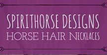 Horse Hair Necklaces by Spirithorse Designs / Personalized Horse Hair Necklaces for the Every Day Equestrian.