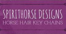 Horse Hair Key Chains by Spirithorse Designs / Durable Horse Hair Key Chains to help you keep them with you... always.