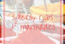 Spices, Rubs, Marinades, Sauces / Spice up your life and save some money with homemade spice mixes, rubs, marinades and sauces.