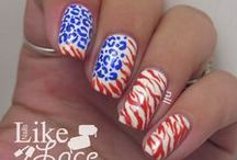 Fourth of July Nails / My Fourth of July manis.