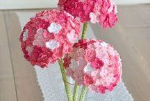Сердечки, цветочки / Схемы и идеи для вязания
