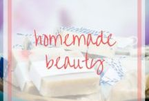 Homemade Beauty & Household Products / Recipes and hacks for homemade beauty and hosuehold products like soaps, salt scrubs, dryer sheets.