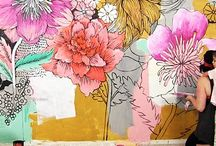 Bedroom Murals / Reference and inspiration for bedroom murals. Floral, bohemian, colorful...