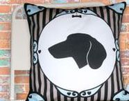 Dog and Cat Silhouette Pillows - These guys are on sale! 50% off! / These guys are on sale at hail price in my ANIMAL shop at https://www.etsy.com/shop/deborahmix - Thanks for visiting!
