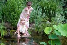 Ponds for Kids / Ponds and Kids just go together! Lure your children away from TV and video games by adding a low-maintenance pond to your backyard. They'll spend hours enjoying the fish and exploring Mother Nature.