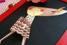 For Kids Inspiration / Kids table inspiration with paper flowers  and paper decoration .