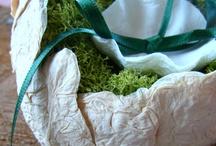 Green wedding:ring bearer pillows . Matrimonio green portafedi / Matrimonio eco : il portafedi