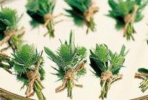 Green wedding: Boutonniere / Matrimonio ecologico : il fiore all'occhiello