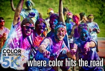 Color in Motion Races / The Color in Motion 5k is coming to a city near you! Use promo code PINTEREST for a discount when you register!