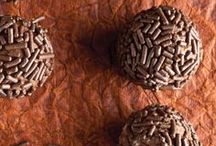 Brigadeiro / Classic Brigadeiro Recipe:  Ingredients: 1 can sweetened condensed milk; 4 tablespoons unsweetened cocoa powder; 1 tablespoon butter; Directions: Combine cocoa, butter and condensed milk. Cook in microwave for 3-6 minutes and let rest until cool enough.