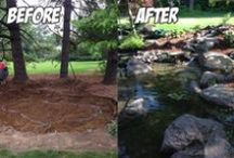 Before and After / Landscapes transformed with a water feature