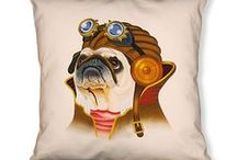 Steampunk Pet Pillows