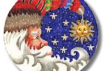 My Needlepoint Page - Come Visit! / If you like needlepoint come and visit my needlepoint page full of animals, Santas and much more. https://www.pinterest.com/adragonstale/