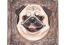 Picture Perfect Pugs / Adorable Pugs printed on premium quality artists canvas and stretched on wooden stretcher bars. All ready to hang or display! Get a 20% discount on the whole store! Just put this url in your browser and join my mailing list: http://eepurl.com/b5mvPr