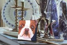 """Boston Terriers, the """"American Gentleman"""" / Adorable Boston Terriers printed on premium quality artists canvas and stretched on wooden stretcher bars. All ready to hang or display! Get a 20% discount on the whole store! Just put this url in your browser and join my mailing list: http://eepurl.com/b5mvPr"""