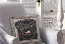"""Perfect Pug Pillow Covers / Adorable Pugs in frames are now pillow covers. They measure 17"""" x 17""""  Price:  $30.00 Come visit for more info! Get a 20% discount on the whole store! Just put this url in your browser and join my mailing list: http://eepurl.com/b5mvPr"""