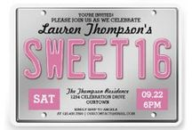 Sweet Sixteen / Fantastic, custom Sweet 16 party invitations, cards, gifts and party ideas for her very special day!