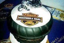 Harley Davidson Motorcycle Themed Engagement Party / Harley Davidson themed Engagement Party.