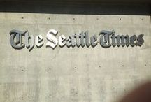 The Seattle Times / The Seattle Times moved to this new building in January 2012. It is adjacent to the two-block long building built in 1931 by the Blethen family on old farmland, but now it shares its new home as part of a lease...and has just closed on a sale of its old land. The Seattle Times also built a hub!
