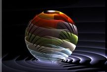 GLASS ORBS / PAPERWEIGHTS (not always round!) - MARBLES - FLOATS / by JDS