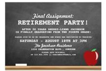 Retirement Party / Planning a retirement party? Check out these great retirement party themed invitations for the perfect start to your party planning!