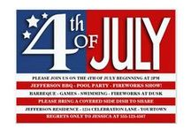 Fabulous 4th of July / Show off your American pride with these fun stars and stripes gifts, decor and party invitations.