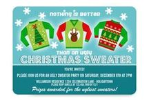 Ugly Christmas Sweater Fun / From party invitations to decor and more - nothing could be better than an Ugly Christmas Sweater!