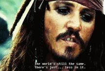 CAPTAIN Jack Sparrow  / Pirates Of The Caribbean fandom (potc) / by Marissa Adrian