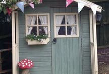 Playhouses / Inspiration for painting a wooden playhouse