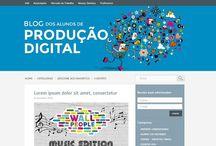 Sites e blogs (2012) / Propostas de layouts de sites e blogs.