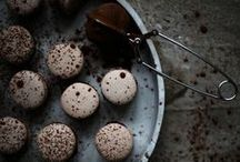{macarons} / They're French and extremely popular now...and the flavor combinations are endless. These are well shot photos of these über trendy treats! / by Carrie Harris